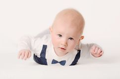 Baby on a white background Royalty Free Stock Photos