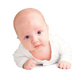 Baby on white background Stock Photos