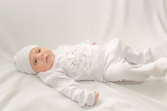 Baby in white a cap Royalty Free Stock Photo