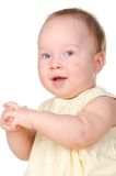 Baby white dress close sideways  Stock Photography