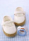 Baby white shoes Royalty Free Stock Images