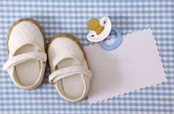 Baby white shoes Stock Images