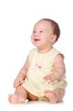 Baby white sit smile sideways Stock Photos
