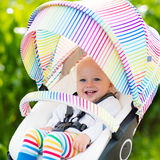 Baby in white stroller Royalty Free Stock Photo