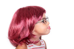 Baby and wig Royalty Free Stock Photography