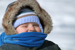 Baby in winter Royalty Free Stock Photo