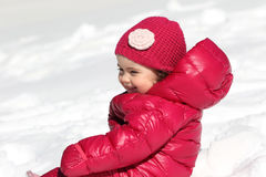 Baby during winter Stock Photos