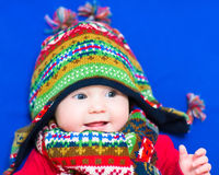 Baby in a winter hat Royalty Free Stock Photo