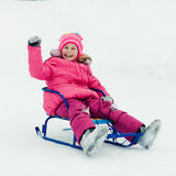 Baby winter outdoors. Stock Images