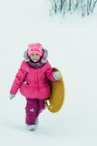 Baby winter outdoors. Royalty Free Stock Photos