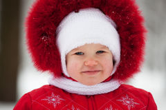 Baby in a winter suit  Royalty Free Stock Photos