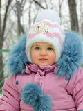 Baby in the winter time Stock Photo