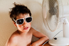 Baby wipes in front of the fan Royalty Free Stock Images