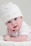 Baby in wit Stock Fotografie