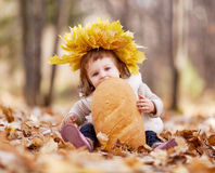 Free Baby With A Loaf Stock Images - 21656044