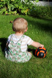 Baby With Ball Royalty Free Stock Photography