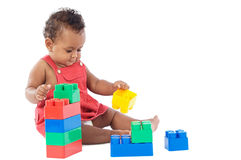 Free Baby With Blocks Royalty Free Stock Photography - 3471447