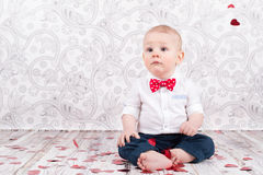 Free Baby With Hearts Stock Photos - 64681483
