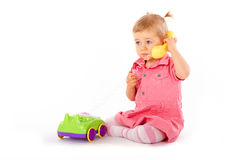 Free Baby With Phone Royalty Free Stock Photos - 7645718