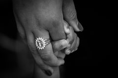 Baby and woman holding hands Royalty Free Stock Images