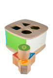 Baby wood toy blocks Royalty Free Stock Photo