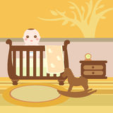 Baby wooden room Royalty Free Stock Images