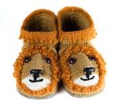 Baby woolen booties Stock Photo