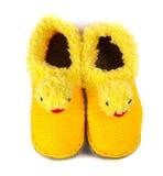 Baby woolen booties Royalty Free Stock Image