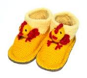 Baby woolen socks Stock Photos