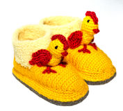 Baby woolen socks royalty free stock images