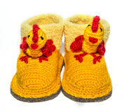 Baby woolen socks royalty free stock photography