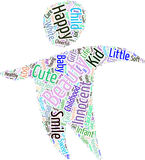 Baby word cloud Stock Image