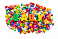 Baby. Word on colorful stone Stock Photos