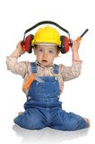 Baby worker Royalty Free Stock Images