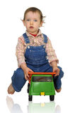 Baby worker Stock Photo