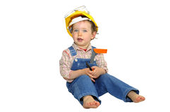 Baby worker Royalty Free Stock Image