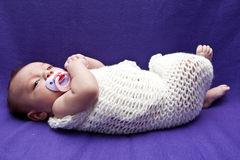 Baby in Wrap Royalty Free Stock Image