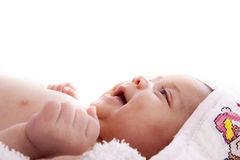 Baby wrapped Royalty Free Stock Images