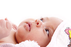 Baby wrapped Royalty Free Stock Photos