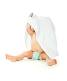 Baby wrapped into the towel Royalty Free Stock Photo