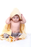 Baby wrapped in towel Royalty Free Stock Image