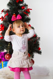 Baby with xmas decoration Royalty Free Stock Images