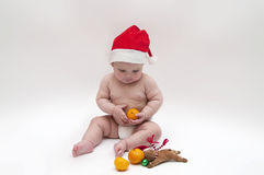 Baby in Xmas theme Stock Image