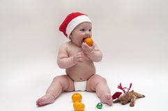 Baby in Xmas theme Stock Photography