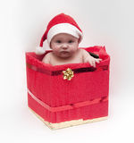 Baby in Xmas theme Stock Images