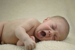 Baby yawn Stock Photography