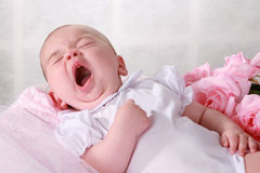 Baby yawning Royalty Free Stock Photo