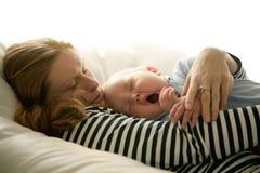Baby yawning Royalty Free Stock Image