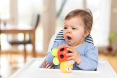 Baby is Yawning Stock Image