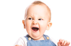 Baby yawns Stock Image